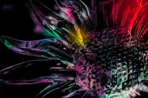 Rainbowflower - Abstract Glass Ornament
